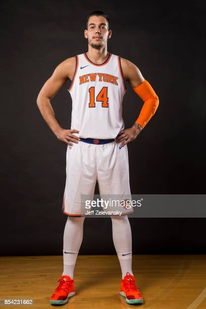 Willy Hernangomez of the New York Knicks is photographed at New York Knicks Media Day on September 25 2017 in Greenburgh New York