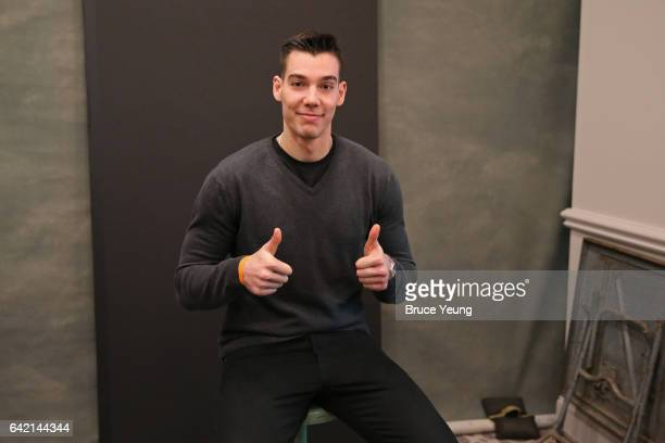 Willy Hernangomez of the New York Knicks poses for a photo during the 2017 AllStar Media Circuit at the Ritz Carlton on February 16 2017 in New...