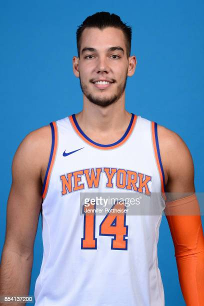 Willy Hernangomez of the New York Knicks poses for a portrait during 2017 Media Day on September 25 2017 at the New York Knicks Practice Facility in...