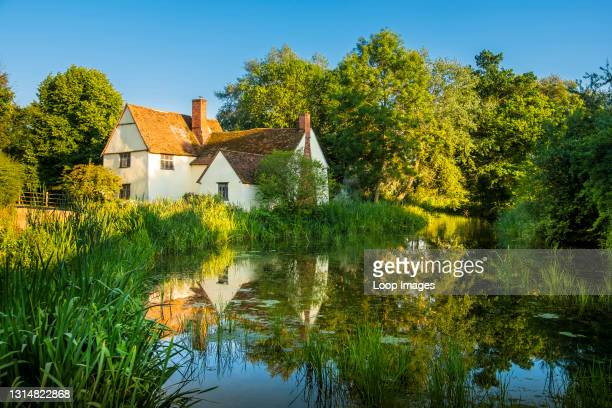 Willy Lott's Cottage at Flatford was featured in The Hay Wain which is a painting by John Constable.