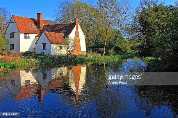 CONTENT] Willy Lott's Cottage is a 16thcentury cottage in Flatford East Bergholt Suffolk England that features in John Constable's painting The Hay...