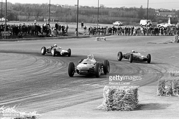 Willy Mairesse John Surtees Stirling Moss Ferrari 156 LolaClimax T4 Lotus Climax 18/21 Grand Prix of Brussels Heysel Park 01 April 1962