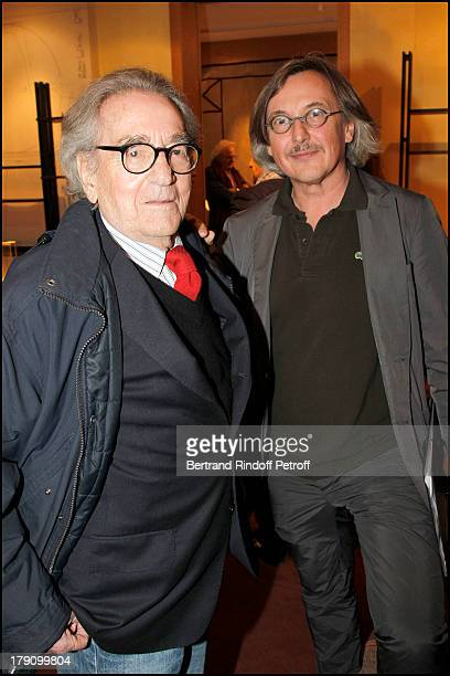 Willy Rizzo Pierre Passebon at The Private View Of Franco Albini At The Galerie Du Passage In Paris
