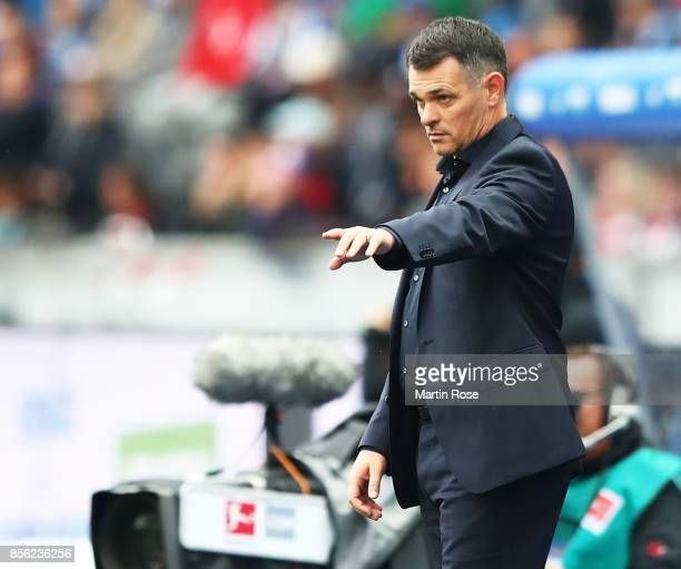 Willy Sagnol head coach of Bayern Munich in action during the Bundesliga match between Hertha BSC and FC Bayern Muenchen at Olympiastadion on October...