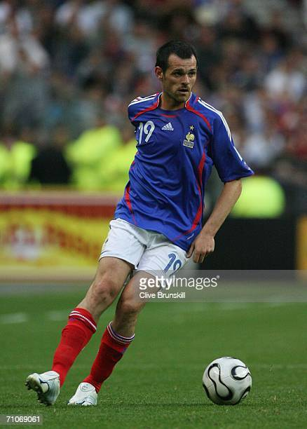 Willy Sagnol of France in action during the international friendly match between France and Mexico at the Stade de France on May 27 2006 in Paris...