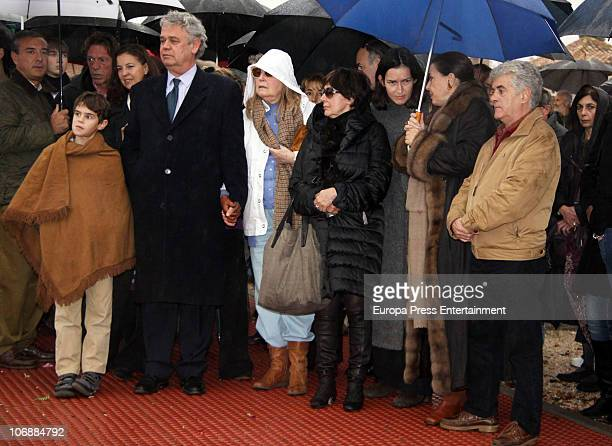 Willy Toledo Monica Randall Angeles GonzalezSinde Concha Velasco Analia Gade Jose Luis Berlanga and his son attend the funeral for Spanish filmmaker...