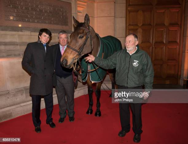Willy TwistonDavies and Nigel TwistonDavies attend The Randox Health Grand National Weights Evening with 2016 winner Rule The World at the Victoria...