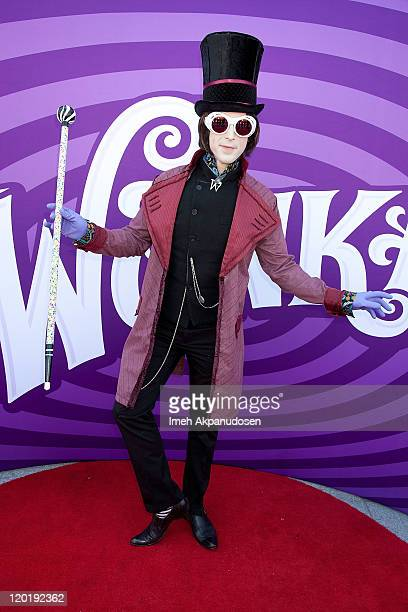Willy Wonka arrives at the 40th Anniversary Screening Of 'Willy Wonka and the Chocolate Factory' at The Grand Gala Chocolate Awards on July 31 2011...