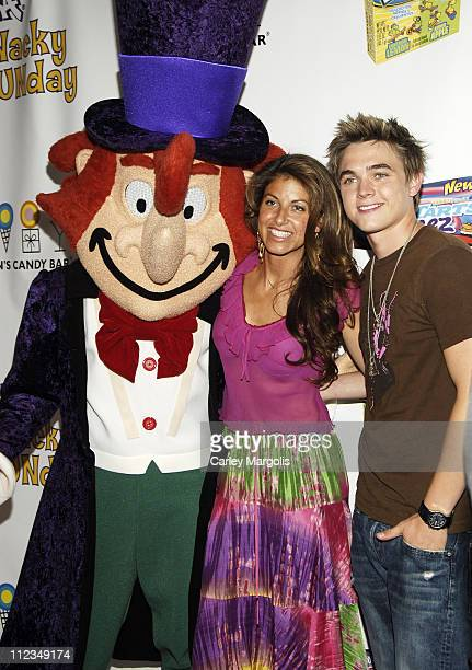 Willy Wonka Dylan Lauren and Jesse McCartney during Jesse McCartney and Willy Wonka Host Wonka's Wacky FUNDay to Launch New SweeTARTS Squeez and Sour...