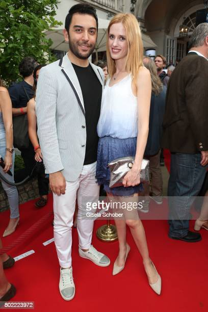 Wilma Elles and her husband Kerem Goegus during the Bavaria Film reception during the Munich Film Festival 2017 at Kuenstlerhaus am Lenbachplatz on...