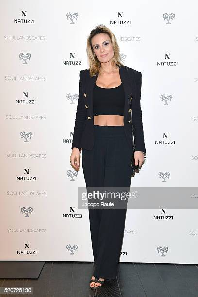 Wilma Facchinetti attends Natuzzi Soul Landscapes on April 12, 2016 in Milan, Italy.