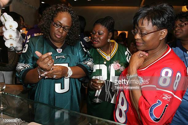Wilma McNabb mother of Donovan McNabb of the Philadelphia Eagles Elizabeth Peprah mother of Charlie Peprah of the Green Bay Packers and Linda...