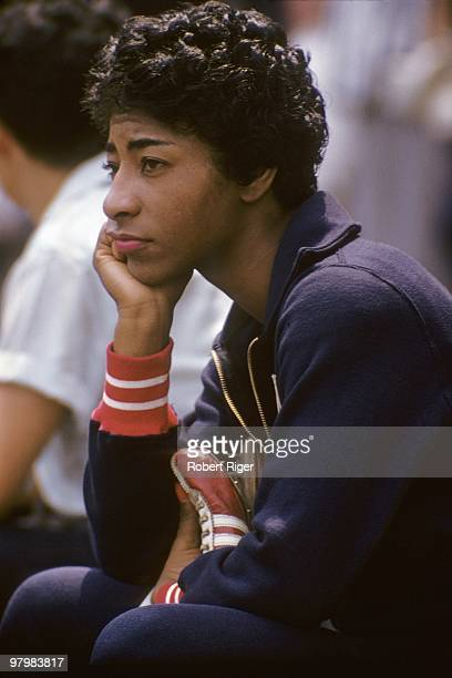Wilma Rudolph of the United States track field athlete looks on in a photo dated July 1959