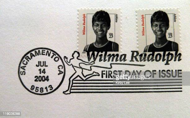 Wilma Rudolph US Postage Stamp The 23cent stamp is the fifth in the Distinguished American Series and was referenced from a photo of Rudolph after...