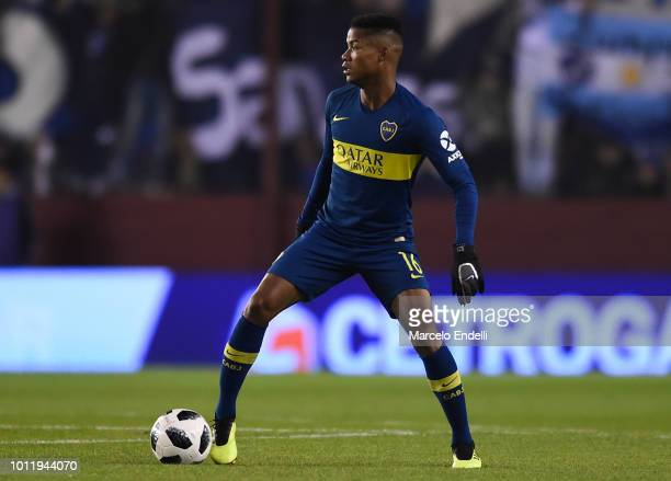 Wilmar Barrios of Boca Juniors drives the ball during a match between Boca Juniors and Alvarado as part of Round of 64 of Copa Argentina 2018 on...