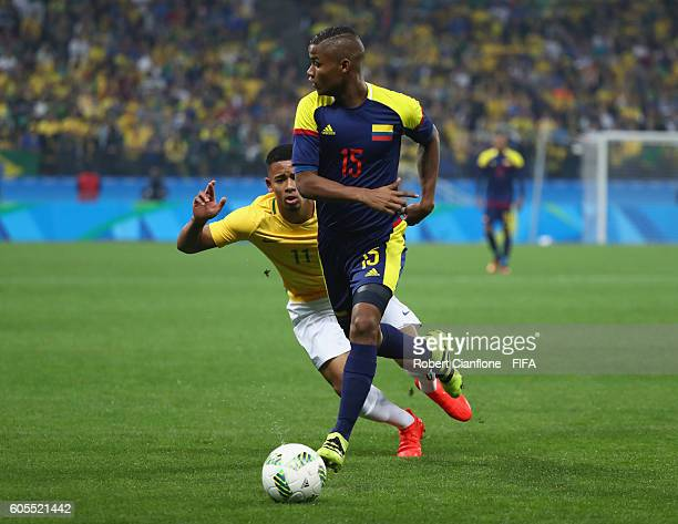 Wilmar Barrios of Colombia controls the ball during the Men's Football Quarter Final match between Brazil and Colombia on Day 8 of the Rio 2016...