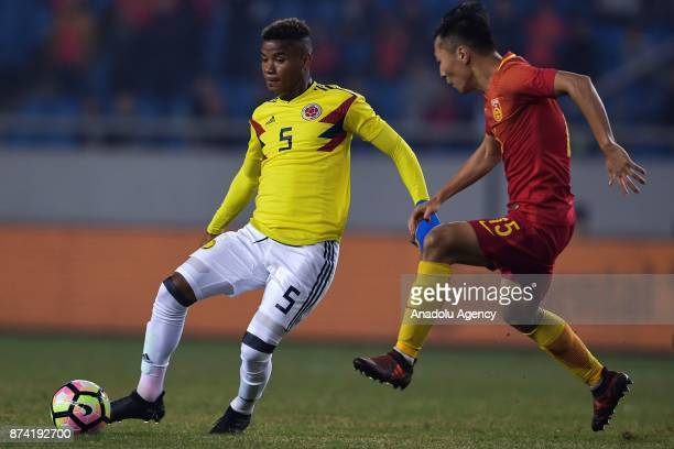 Wilmar Barrios of Colombia in action during International Friendly Football Match between China and Colombia at the Chongqing Olympic Sports Center...