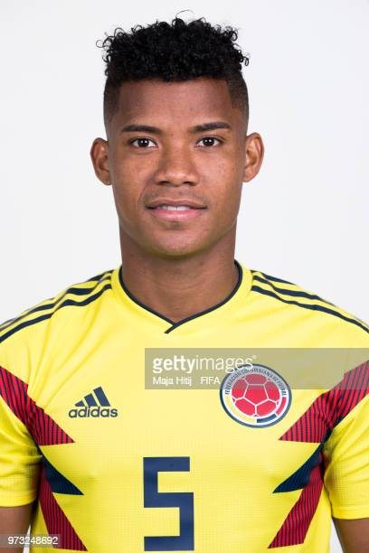 Wilmar Barrios of Colombia poses for a portrait during the official FIFA World Cup 2018 portrait session at Kazan Ski Resort on June 13 2018 in Kazan...