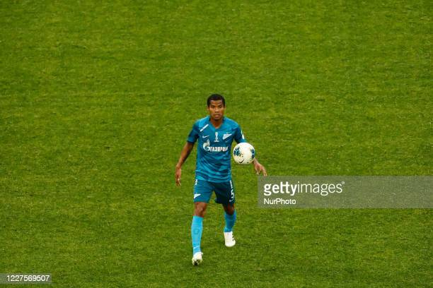 Wilmar Barrios of Zenit Saint Petersburg in action during the Russian Premier League match between FC Zenit Saint Petersburg and FC Orenburg on July...