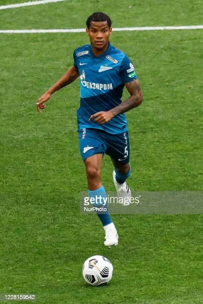 Wilmar Barrios of Zenit Saint Petersburg in action during the Russian Premier League match between FC Zenit Saint Petersburg and FC Tambov on August...