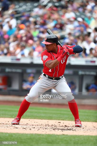 Wilmer Difo of the Washington Nationals bats against the New York Mets during their game at Citi Field on July 15 2018 in New York City