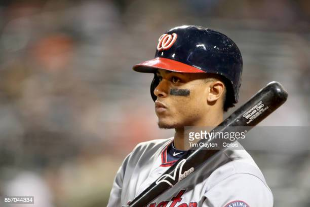 Wilmer Difo of the Washington Nationals batting during the Washington Nationals Vs New York Mets MLB regular season game at Citi Field Flushing...