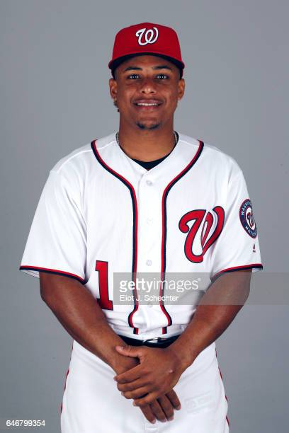Wilmer Difo of the Washington Nationals poses during Photo Day on Thursday February 23 2017 at the Ballpark of the Palm Beaches in West Palm Beach...