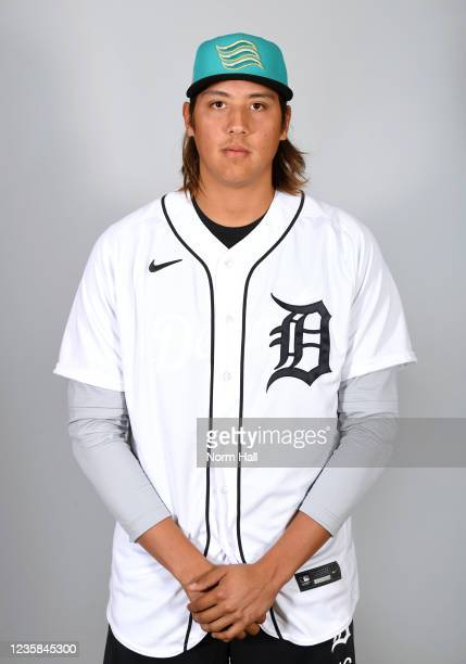 Wilmer Flores of the Salt Rive Rafters poses for a headshot during the 2021 Arizona Fall League Headshots at Salt River Fields at Talking Stick on...