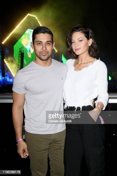 Wilmer Valderrama and Amanda Pacheco attend the MDL Beast Festival on December 21 2019 in Riyadh Saudi Arabia