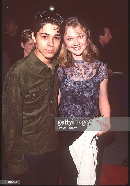 Wilmer Valderrama and Ariana Richards during Varsity Blues Los Angeles Premiere at Paramount Pictures in Hollywood California United States
