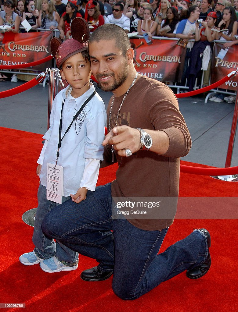 Wilmer Valderrama and brother Christian during 'Pirates of the Caribbean: At World's End' World Premiere - Arrivals at Disneyland in Anaheim, California, United States.