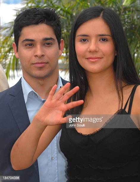 Wilmer Valderrama and Catalina Sandino Moreno during 2006 Cannes Film Festival Fast Food Nation Photocall at Palais du Festival Terrace in Cannes...
