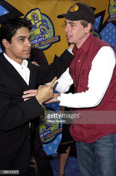Wilmer Valderrama and Dax Shepard during 2003 MTV Movie Awards Arrivals at The Shrine Auditorium in Los Angeles California United States