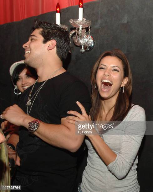 Wilmer Valderrama and Eva Longoria during Wilmer Valderrama and MTV Present the Premiere Party for 'Yo Momma' Inside at Privilege in West Hollywood...