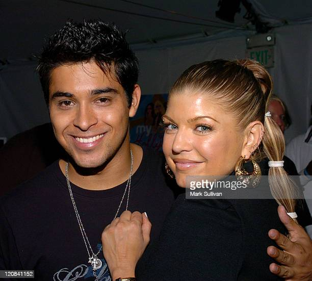 Wilmer Valderrama and Fergie of Black Eyed Peas at My Scene Goes Hollywood Celebrity Retreat produced by Backstage Creations