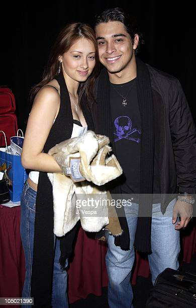 Wilmer Valderrama and guest at the 2002 Billboard Awards Backstage Creations Talent Retreat