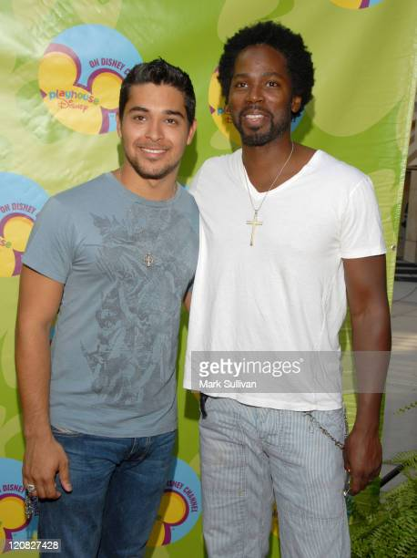 Wilmer Valderrama and Harold Perrineau during Disney Channel Presents the Premiere of Handy Manny at ArcLight Theatre in Hollywood California United...