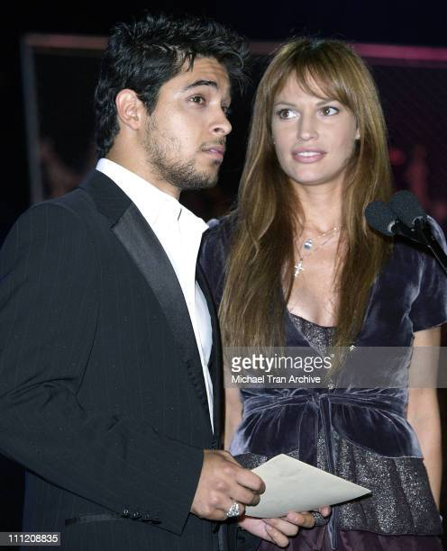 Wilmer Valderrama and Jolene Blalock during G-Phoria 2005 -The Mother of All Videogame Award Shows - Inside at Los Angeles Center Studios in Los...