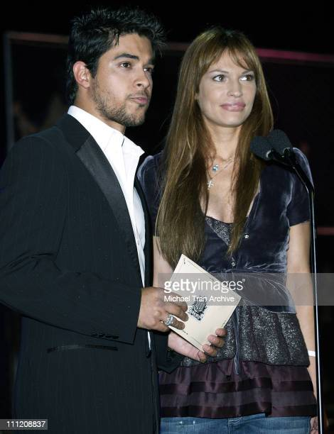 Wilmer Valderrama and Jolene Blalock during GPhoria 2005 The Mother of All Videogame Award Shows Inside at Los Angeles Center Studios in Los Angeles...