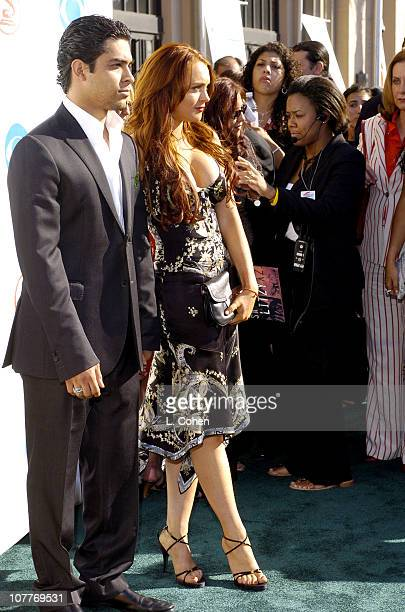 Wilmer Valderrama and Lindsay Lohan during The 5th Annual Latin GRAMMY Awards Green Carpet at Shrine Auditorium in Los Angeles California United...