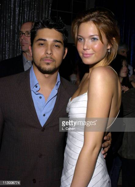 Wilmer Valderrama and Mandy Moore during Saved Los Angeles Premiere After Party at Beverly Hills High School in Beverly Hills California United States