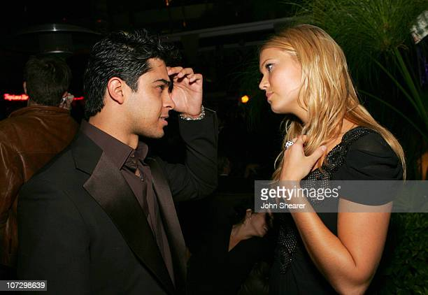 Wilmer Valderrama and Mandy Moore during The 57th Annual Emmy Awards TV Guide and Inside TV After Party Inside at Hollywood Roosevelt Hotel in...