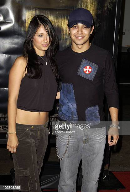 Wilmer Valderrama and sister Marilyn during The Texas Chainsaw Massacre Premiere Arrivals at Mann's Chinese Theatre in Hollywood California United...