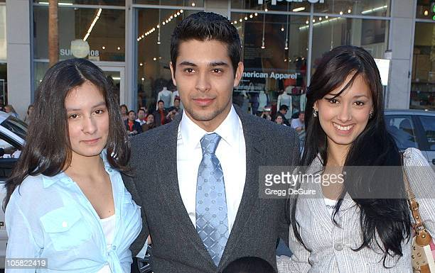 Wilmer Valderrama and sisters Marilyn and Stephanie
