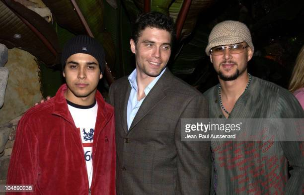 Wilmer Valderrama Anson Mount Cris Judd during The Big Three O A Benefit For The War Victims of Sierra Leone Sponsored by The Reebok Human Rights...