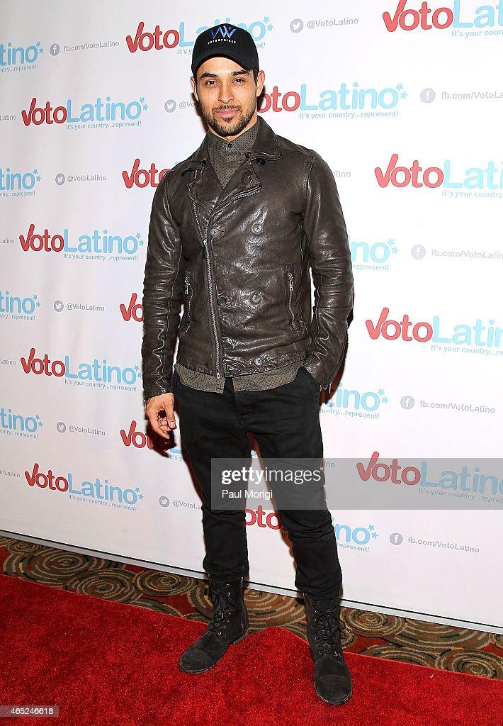Wilmer Valderrama, Artist Coalition Co-Chair, Voto Latino, poses for photos at Voto Latino's 10th Anniversary Celebration at Hamilton Live on March 4, 2015 in Washington, DC.