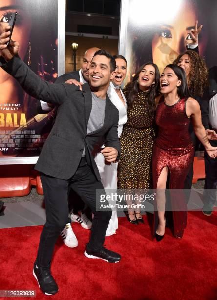 Wilmer Valderrama Eva Longoria America Ferrera Gina Rodriguez attend the premiere of Columbia Pictures' 'Miss Bala' at Regal LA Live Stadium 14 on...