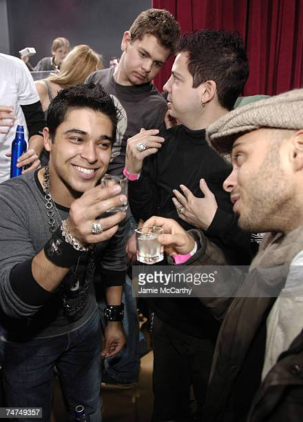 Wilmer Valderrama Jack Osbourne Tommy Lipnick and Rich Akiva at the Harry O's in Park City Utah