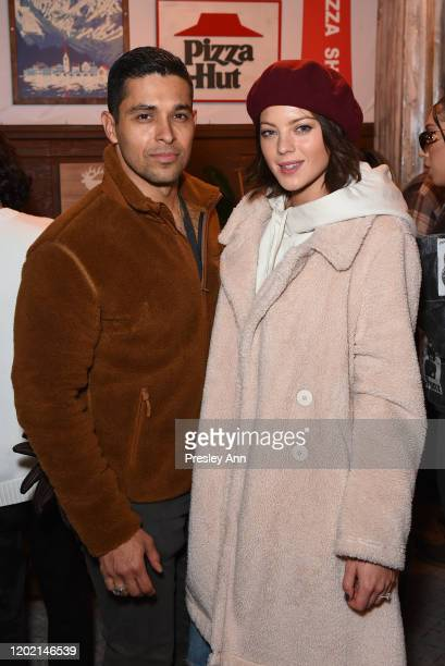 Wilmer Valderrama of 'Blast Beat' and Amanda Pacheco attend the Pizza Hut x Legion M Lounge during Sundance Film Festival on January 26 2020 in Park...