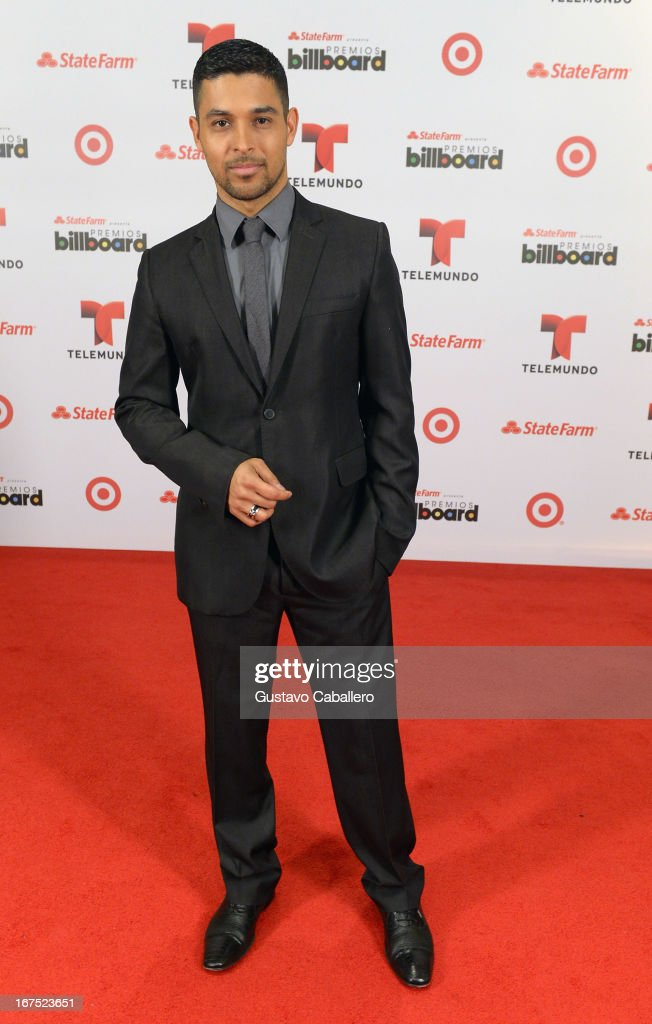 Wilmer Valderrama poses backstage at Billboard Latin Music Awards 2013 at Bank United Center on April 25, 2013 in Miami, Florida.